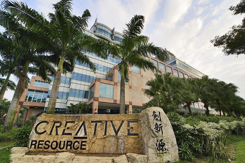 Palm trees are seen outside the Creative Technology's headquarters in Singapore, on Monday, Jan 29, 2007. Creative Technology continued to rack up losses. For the third quarter ended March 31, the soundcard maker posted a net loss of US$8.8 mill