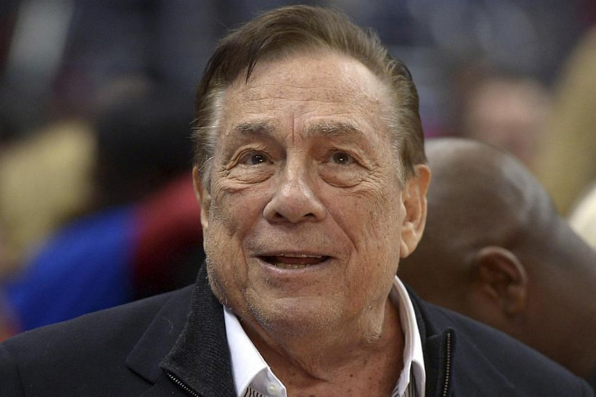File photo of Los Angeles Clippers owner Donald Sterling attending a game against the Los Angeles Lakers at Staples Center in January this year. - PHOTO: REUTERS/USA TODAY