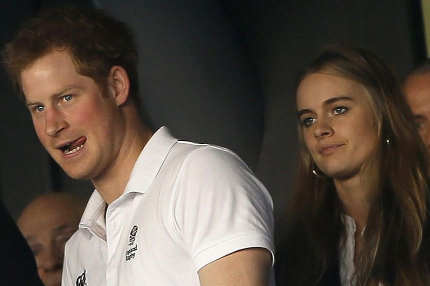 Britain's Prince Harry and Cressida Bonas attend England's Six Nations international rugby union match against Wales at Twickenham in London on March 9, 2014. -- FILE PHOTO: REUTERS