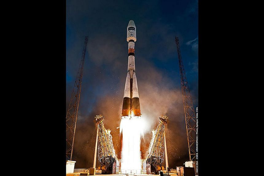 The Sentinel-1A satellite lifting off aboard a rocket designed in Soviet Russia in the 1960s, from Kourou, French Guiana, earlier this month. Technology for communicating from the sky is stuck in the 1970s. The problem starts not with planes, but wit