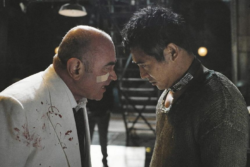 Cinema still: Unleashed starring Jet Li (right) and Bob Hoskins. -- FILE PHOTO: SHAW
