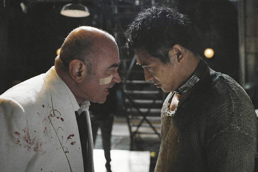 Cinema still: Unleashed starring Jet Li (right)and Bob Hoskins. -- FILE PHOTO: SHAW