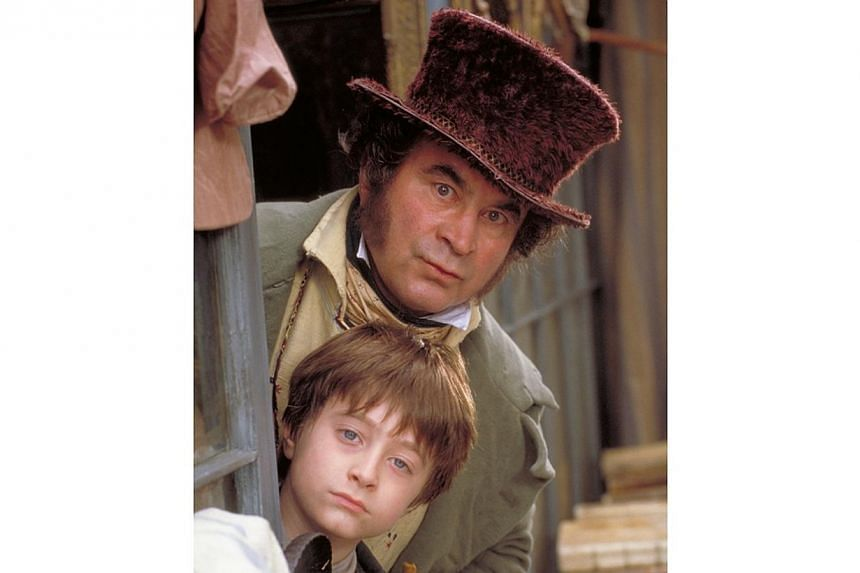 Television still: David Copperfield, starring Daniel Radcliffe (bottom) and Bob Hoskins. -- FILE PHOTO: MIO TV