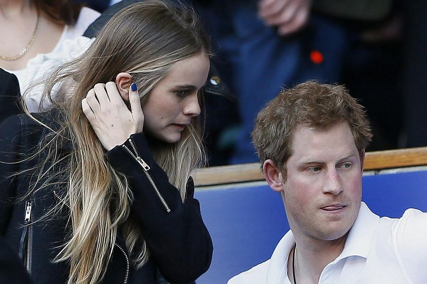 Britain's Prince Harry and Cressida Bonas attend England's Six Nations international rugby union match against Wales at Twickenham in London on March 9, 2014. -- FILEPHOTO: REUTERS