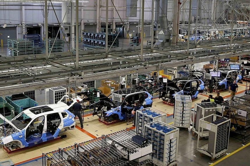 US manufacturing activity slowed for a second straight month in April, though the rate of growth remained strong, an industry report showed on Thursday, May 1, 2014. -- FILE PHOTO: REUTERS