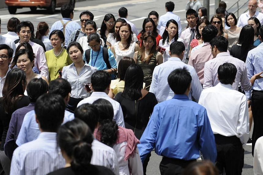 The job scene here is off to a tepid start this year, with the highest jobless rate and lowest increase in new jobs filled since 2011.-- ST FILE PHOTO: CAROLINE CHIA