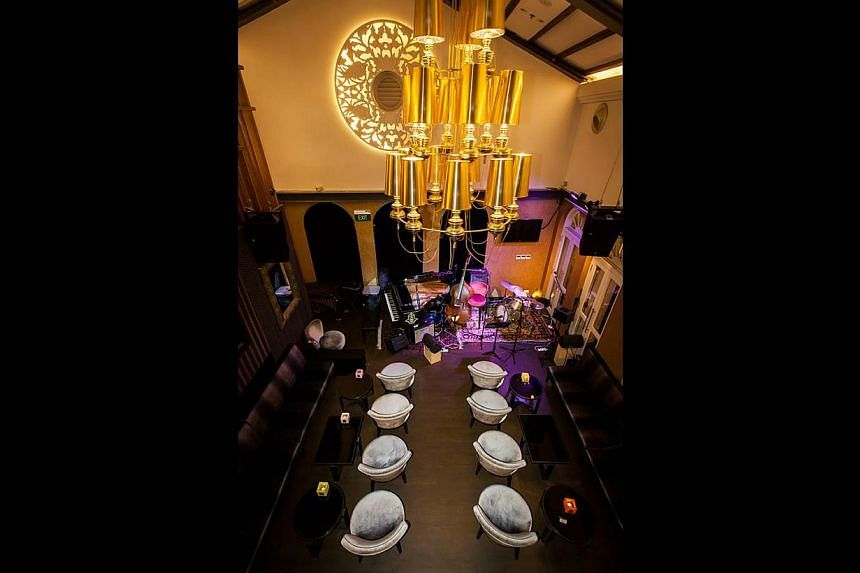 The interior of the 13-month-old Sultan Jazz Club, which has hosted local and visiting jazz musicians. -- PHOTO: SULTAN JAZZ CLUB
