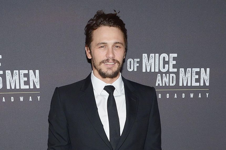 "Actor James Franco attends the after party for the Broadway opening night for ""Of Mice and Men"" at The Plaza Hotel on April 16, 2014 in New York City. -- FILE PHOTO: AFP"