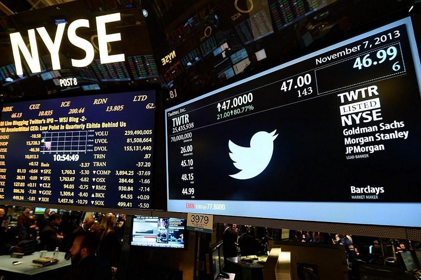 Twitter investors who heeded the advice of high-profile banks such as Goldman Sachs Group and Deutsche Bank to buy the social media company's shares might be kicking themselves. -- FILE PHOTO: AFP