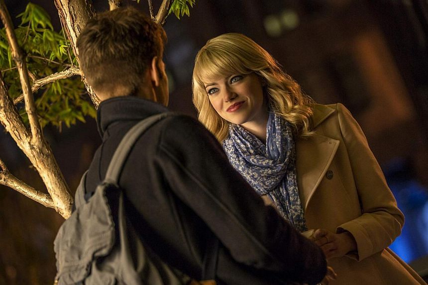 Andrew Garfield dons the costume a second time in The Amazing Spider-Man 2. He and actress Emma Stone (above), who plays his girlfriend, share wonderful chemistry. -- PHOTO: SONY PICTURES