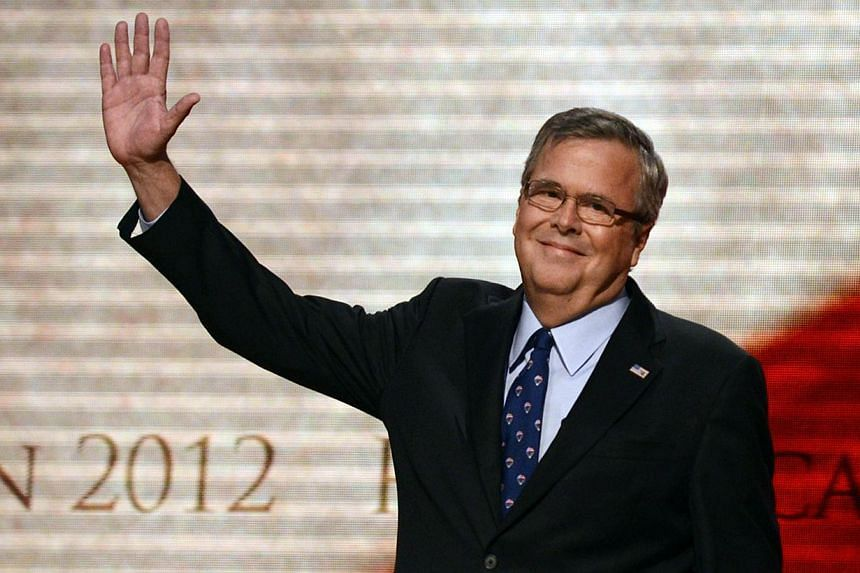 Former Florida Governor Jeb Bush waving to the audience on the final day of the Republican National Convention (RNC) at the Tampa Bay Times Forum in Tampa, Florida. If it were up to former United States President George W. Bush, a third member of the