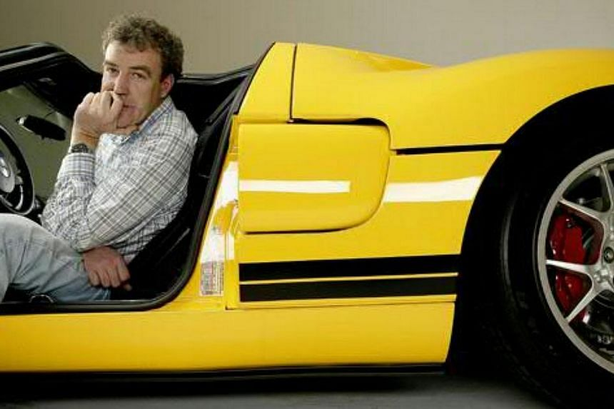 Jeremy Clarkson, presenter of BBC motoring programme Top Gear, on May 1, 2014, begged forgiveness for appearing to use a racist insult in a non-aired clip recorded for the globally successful show. -- PHOTO: WWW.TOPGEAR.COM/SCREENGRAB