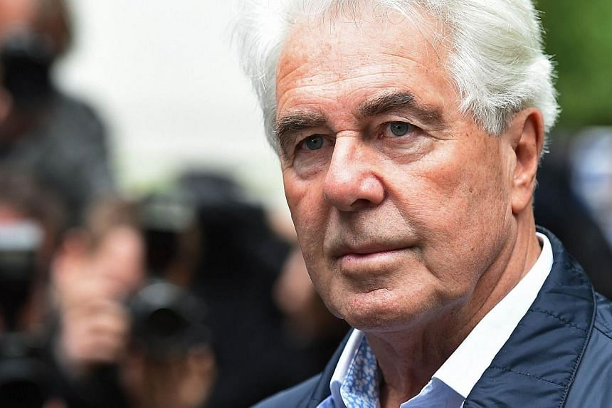 British publicist Max Clifford arrives at Southwark Crown Court in London on May 2, 2014, to be sentenced after being convicted on eight counts of indecent assault. Britain's best-known celebrity publicist was jailed for eight years on Friday for ind