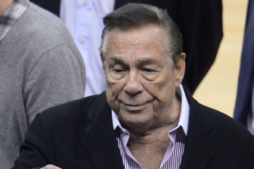 Los Angeles Clippers owner Donald Sterling attends the NBA play-off game between the Clippers and the Golden State Warriors, on April 21, 2014, at Staples Center in Los Angeles, California. Sterling, newly banned from basketball over racist comments