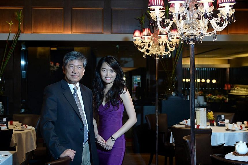Crystal Jade Culinary Concepts chief executive Ip Yiu Tung with L Capital Asia managing director Christina Teo. The 65-year-old Mr Ip, who has one daughter, says it is very difficult to find a successor. L Capital Asia will be acquiring over 90 per c