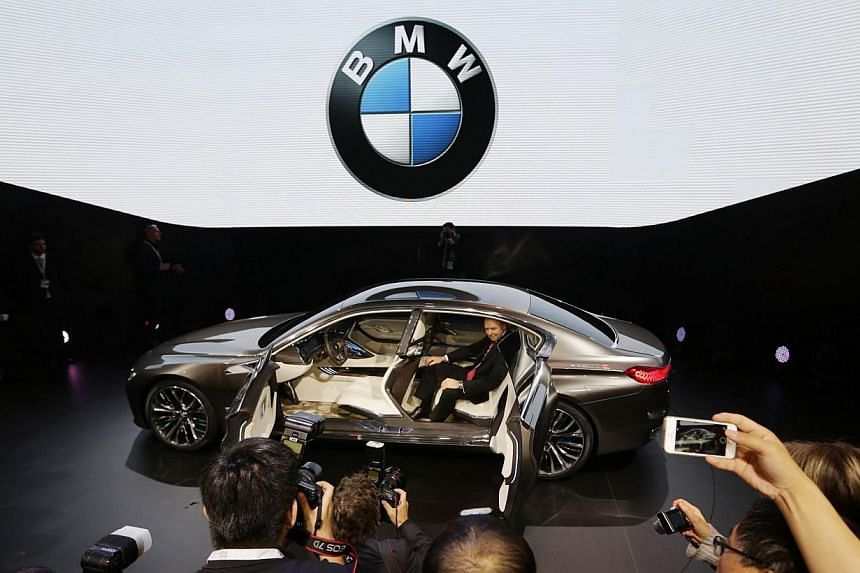 A BMW Vision Future Luxury concept car (above) at its world premiere at Auto China 2014 in Beijing last month. -- PHOTO: REUTERS