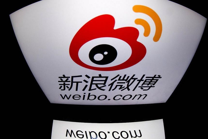 """Chinese authorities have slapped Internet giant Sina with a fine of more than five million yuan (S$1 million) over """"unhealthy and indecent content"""", the company announced. -- FILE PHOTO: AFP"""