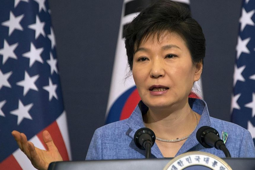 "South Korean President Park Geun Hye on Sunday, May 4, 2014, met relatives of passengers still missing after the sinking of a ferry last month and vowed that any culprits would be ""sternly punished"", as the confirmed death toll rose to 244. -- FILE P"