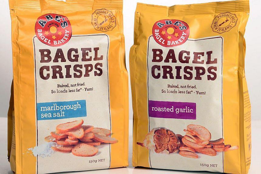 Abe's Bagel Crisps. -- ST PHOTO: JOYCE FANG
