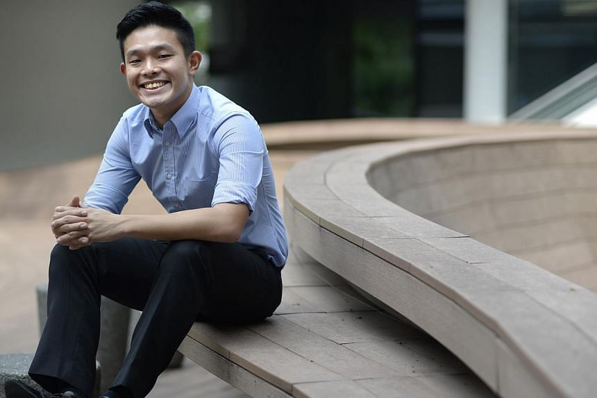 Mr David Hoe, an undergraduate at the National University of Singapore (NUS), is one of the speakers at the inaugural The Straits Times Education Forum, to be held at the Singapore Management University, Mochtar Riady Auditorium on May 4, 2014. -- ST