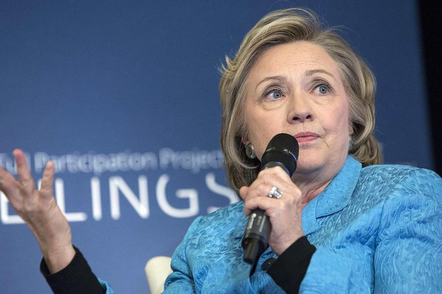 Former US Secretary of State Hillary Clinton participates in A No Ceilings Conversation at Lower Eastside Girls Club in New York April 17, 2014. Senator Tim Kaine of Virginia on Saturday endorsed Mrs Clinton for president, even though the former secr
