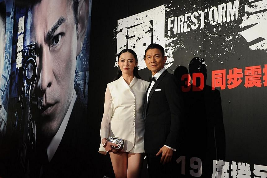 Actress Yao Chen and actor Andy Lau, stars of action blockbuster Firestorm. -- FILE PHOTO: MATTHEW LIU