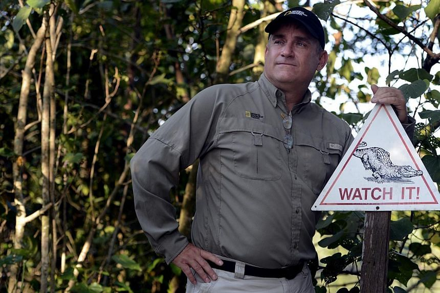 Crocodile and amphibian expert Brady Barr is the host of Dangerous Encounters With Brady Barr on the National Geographic Channel. The death of a saltwater crocodile, nicknamed Barney by anglers, puts the spotlight on these creatures that reside in Si