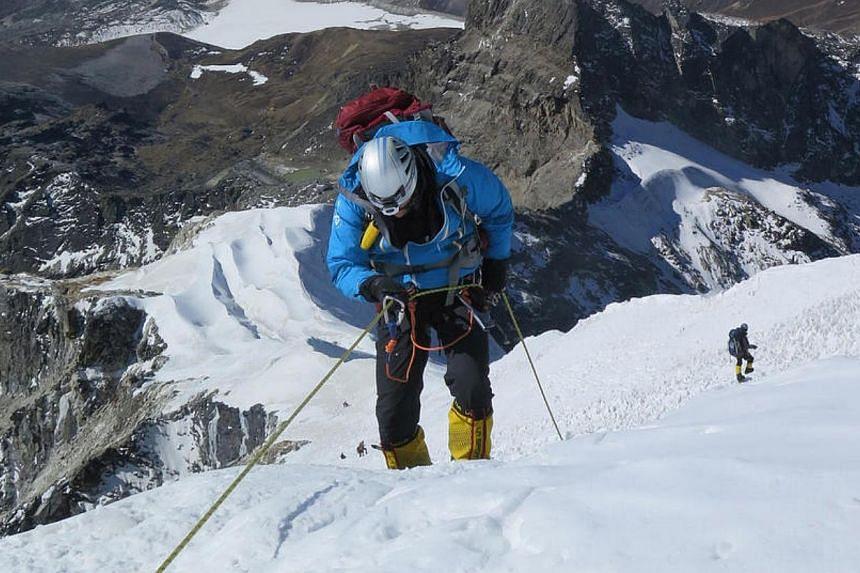 MrBrooks Entwistle took nine months to prepare himself for Everest. -- PHOTO:BROOKS ENTWISTLE