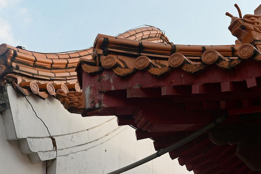 A structure in the Chinese Garden with signs of wear and tear (above). Work to refurbish the Chinese Garden (left) and Japanese Garden (below) will start from the year end.