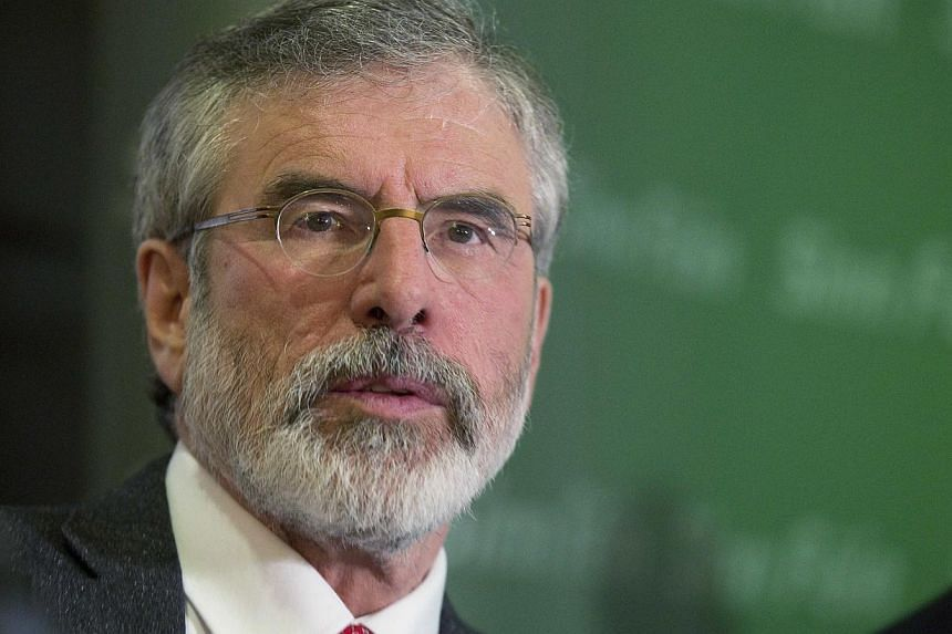 Northern Ireland police released Gerry Adams from custody on Sunday and the Sinn Fein leader sought to calm fears that his four-day detention could destabilise the British province by pledging his support to the peace process. -- PHOTO: REUTERS