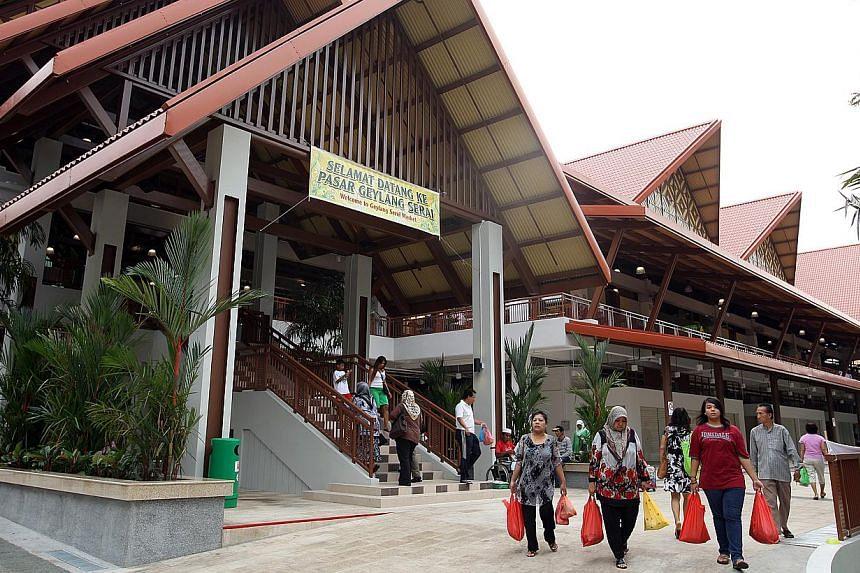 The Geylang Serai Market. A new overhead bridge will link the popular Geylang Serai market to a new civic centre and mall, Wisma Geylang Serai, Marine Parade GRC MP Tan Chuan-Jin said on Sunday. -- ST FILE PHOTO: LAU FOOK KONG