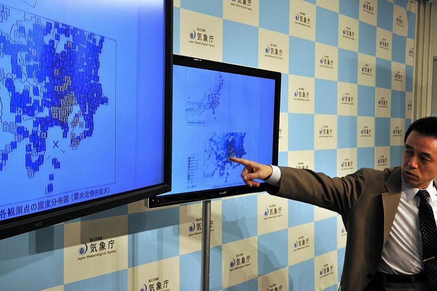 Japan Meteorological Agency officer Yohei Hsegawa speaks during a press conference in Tokyo on May 5, 2014. -- PHOTO: AFP