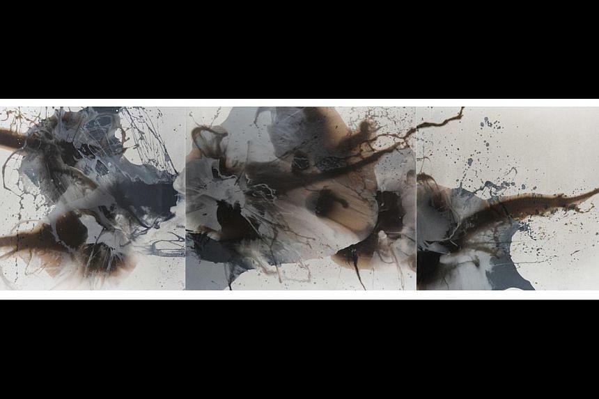 Volcanic Ash Series #4, 2012 (Triptych). -- PHOTO: ARIN DWIHARTANTO SUNARYO