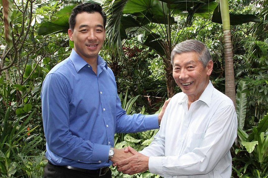 Newly appointed Chefs de Mission for the 2015 SEA Games, Mr Nicholas Fang (left) and Dr Tan Eng Liang (right).Two chef-de-missions have been appointed to lead Singapore at the 2015 SEA Games - marking the first time that more than one team lead