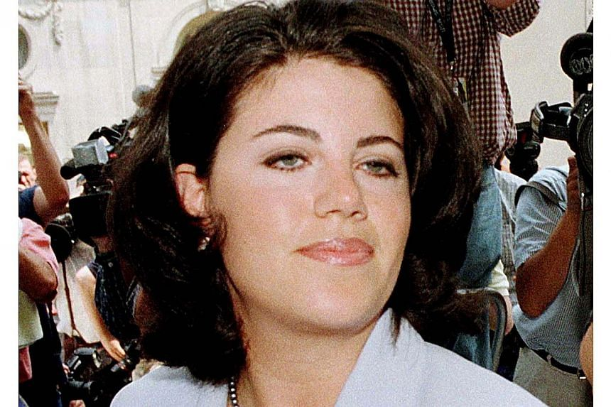 Former White House intern Monica Lewinsky is pictured arriving at her lawyer's offices in Washington in this file picture from July 28, 1998. Ms Lewinsky, the onetime White House intern whose 1990s affair with Bill Clinton nearly brought down his pre
