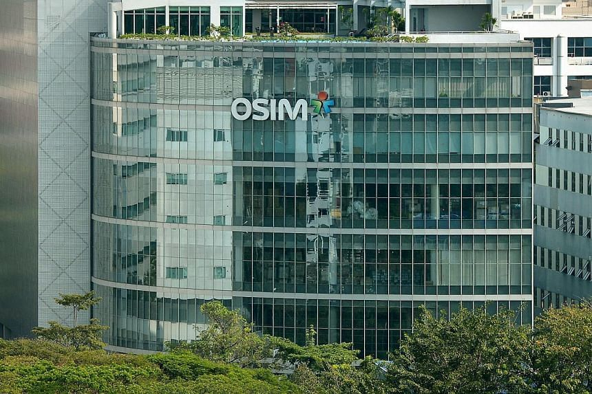 Osim International Ltd building along Ubi Avenue 1. -- ST FILE PHOTO: KUA CHEE SIONG