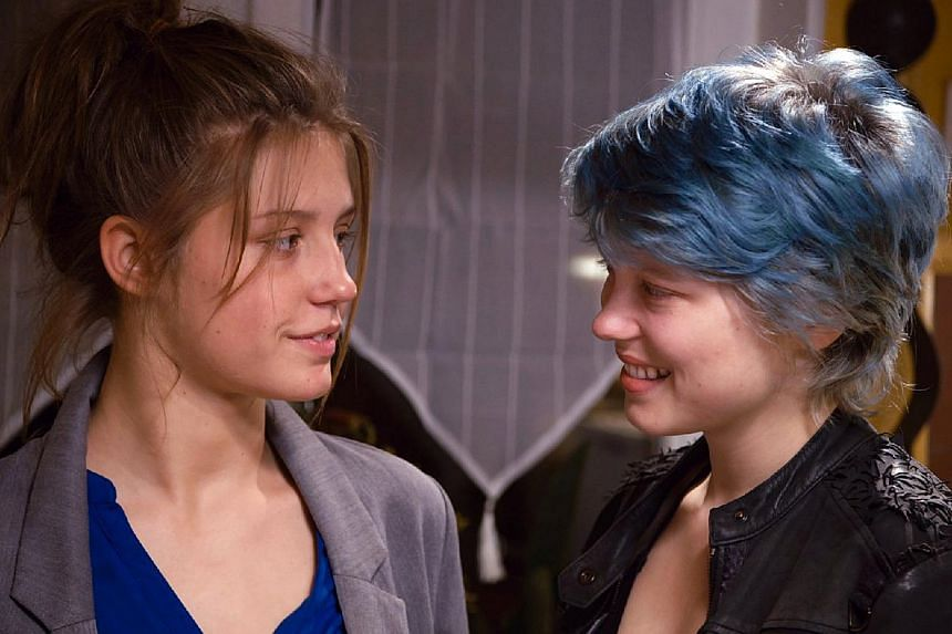 Blue Is The Warmest Color's Adele Exarchopoulos (far left) and Lea Seydoux (left).