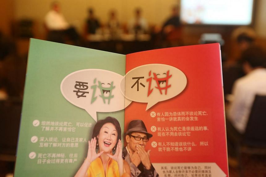 A booklet to be given out at the getai performances will offer tips on how to broach end-of-life issues with family members, like what kind of funeral or medical care they want in their last days.