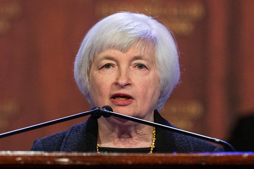"""The US economy is on track for """"solid growth"""" in the second quarter after the winter freeze, US Federal Reserve Chair Janet Yellen said on Wednesday. -- FILE PHOTO: AFP"""