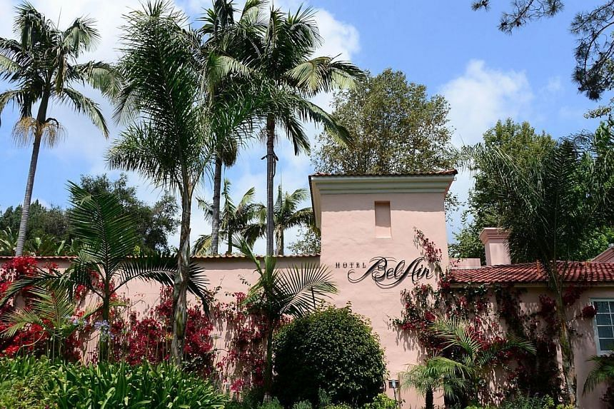 The Bel-Air Hotel in Los Angeles, owned by the Sultan of Brunei, on May 7, 2014 in California. Beverly Hills said on Wednesday it passed a resolution demanding the Sultan of Brunei sell his hotel in the posh US city, after he introduced a penal