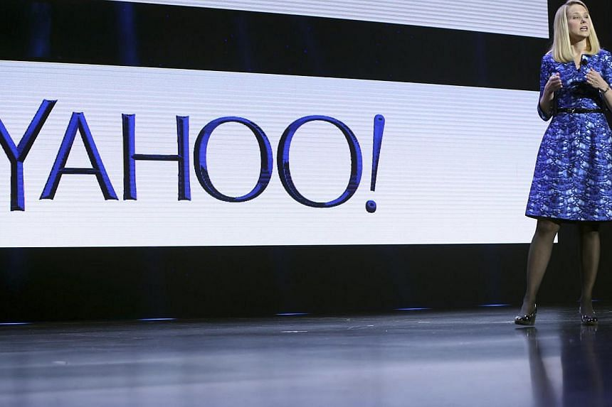 Yahoo chief executive Marissa Mayer said that the firm would maintain its plan to cut its stake by 40 per cent when Alibaba makes its market debut. -- FILE PHOTO: AFP