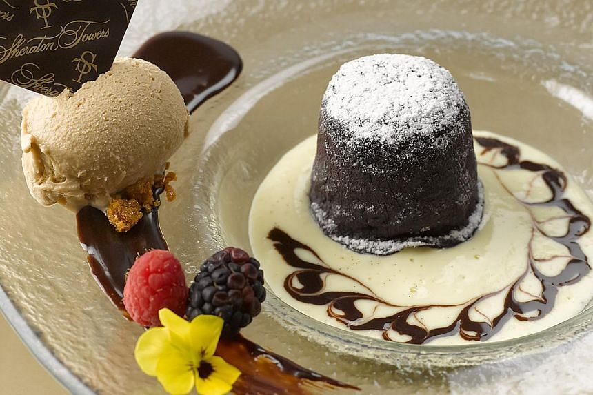 Warm Chocolate Cake at DOMVS. -- PHOTO:SHERATON TOWERS