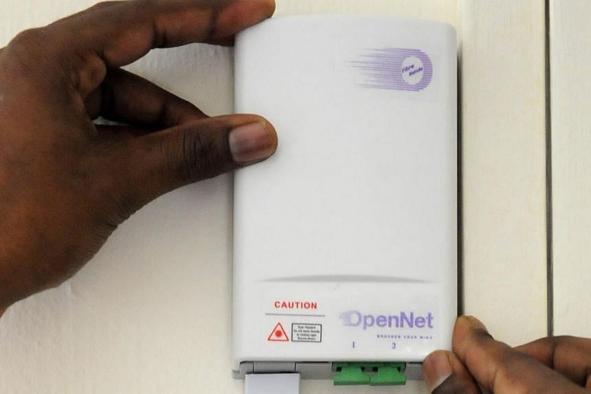 National fibre broadband network builder OpenNet has been hit with yet another fine for failing to deliver fibre broadband services in a timely manner, this time to business users. --ST FILE PHOTO: ASHLEIGH SIM