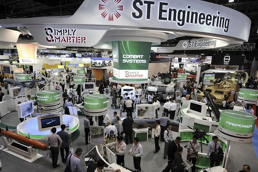 Singapore Technologies Engineering Ltd. posted a 2 per cent rise in its net profit for the first quarter of the year over a year ago to $137.2 million, on revenue of $1.55 billion. -- FILE PHOTO: BLOOMBERG