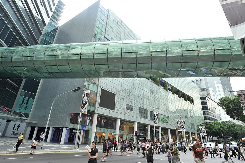 Orchard Gateway mall's glass link bridge (above). The mall has a net lettable area of 166,800 sq ft and is slated for an official launch in the fourth quarter. Other malls opening by the year end include Big Box mall in Jurong Gateway and The Seletar