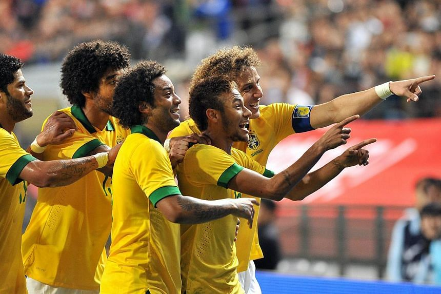 Pele says Neymar (second from right) has no World Cup experience, so it is not realistic to pin hopes of Brazil being crowned champions on him.