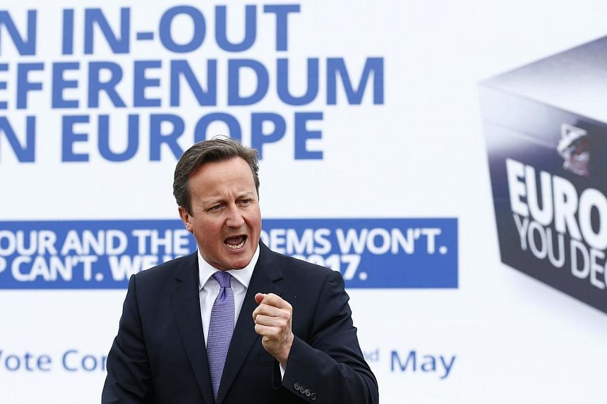 British Prime Minister David Cameron said on Friday he would not quit if Scotland voted to leave the United Kingdom in a September referendum to become an independent country. -- PHOTO: REUTERS