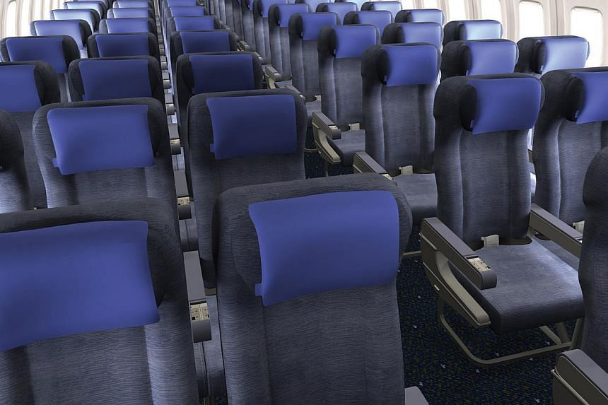 United Airlines' Business class has 23.5-inch-wide seats while its Premium economy class has 18-inch-wide seats, 5 inches more leg-room than economy seats. -- FILE PHOTO:UNITED AIRLINES