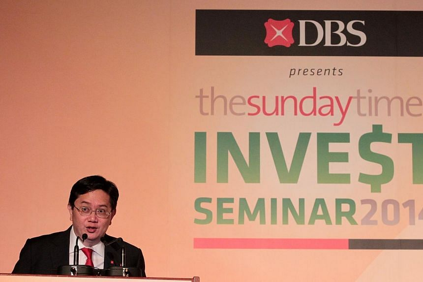 Mr Philip Wee, a senior currency economist at DBS Group Research, sharing his views on the impact of the United States Federal Reserve reversing its monetary stimulus policy might have on currencies at The Sunday Times Invest Seminar held on May 10 a