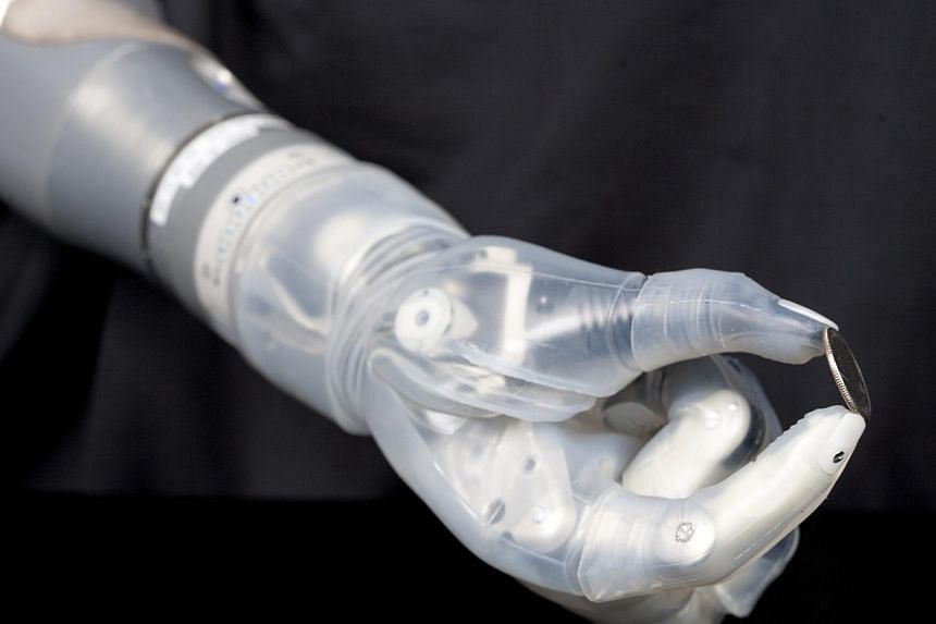 "The DEKA Arm System is pictured in this Pentagon's Defense Advanced Research Projects Agency (DARPA) handout image released on May 9, 2014. The US Food and Drug Administration has approved the robotic arm for amputees that is named for the ""Star Wars"